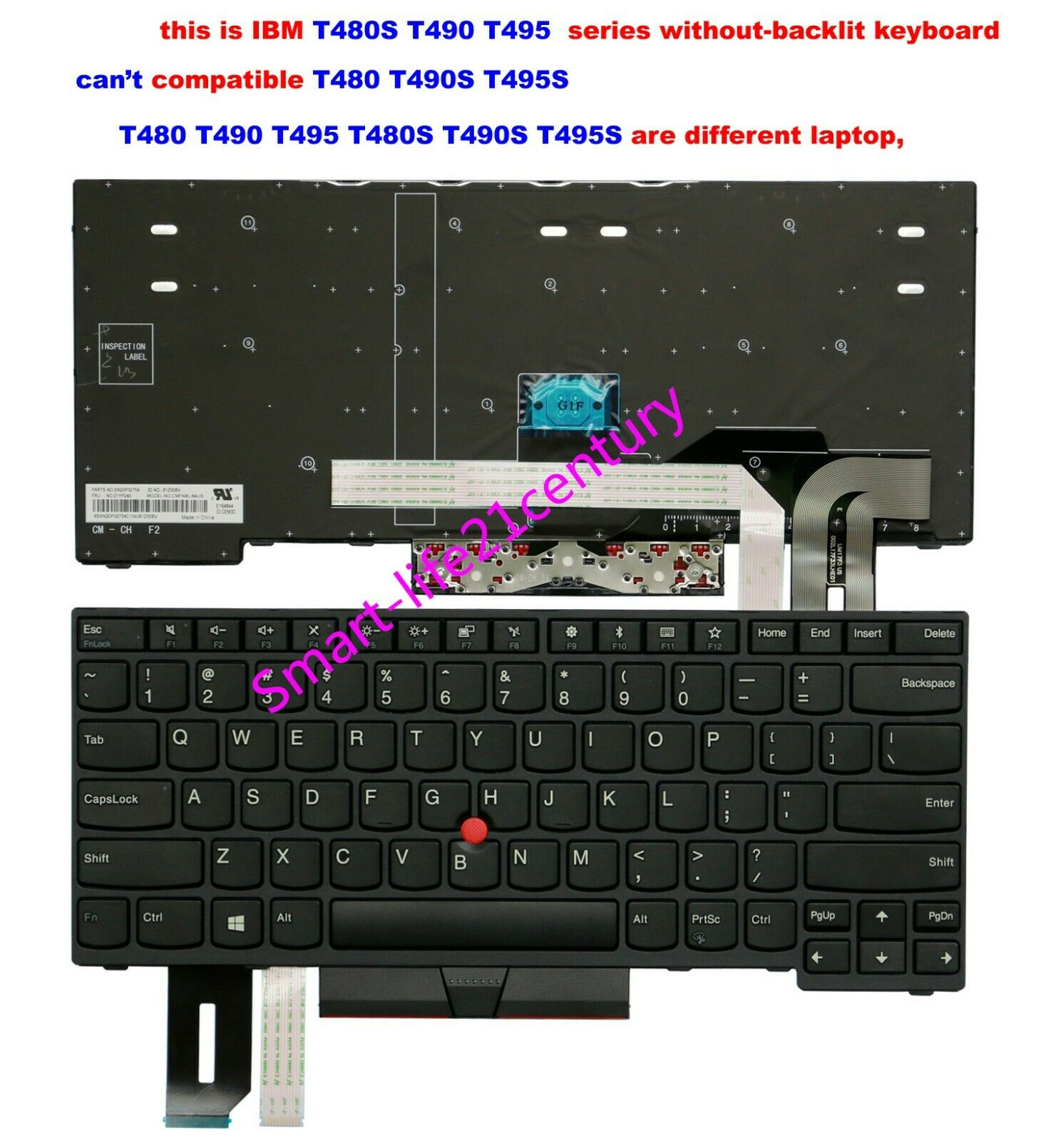 New For lenovo IBM Thinkpad T480s (can't compatible T480) keyboard Non-backlit