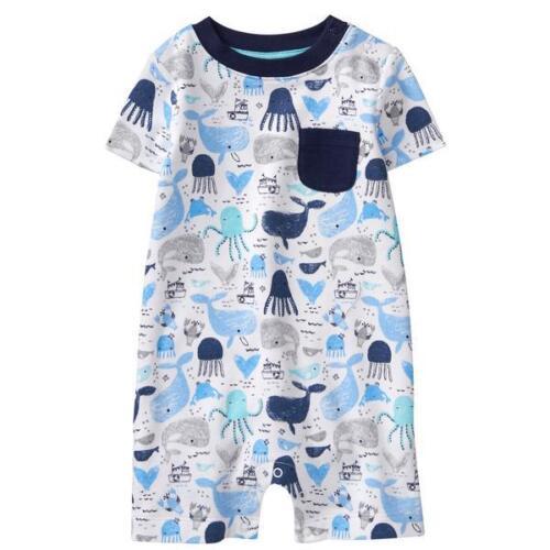 12-18mo Baby Boy NWT Gymboree Sunny Adventures Sea Life Romper 0-3-6