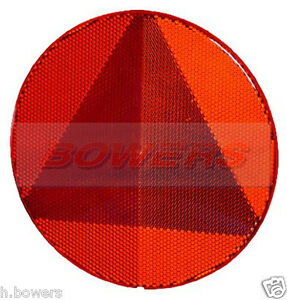 HELLA-LARGE-REAR-RED-ROUND-STICK-ON-ADHESIVE-TRIANGLE-REFLECTOR-SWIFT-CARAVAN