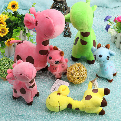 1Pc Lovely Giraffe Dear Baby Kid Birthday Party Gift Animal Dolls Soft Plush Toy