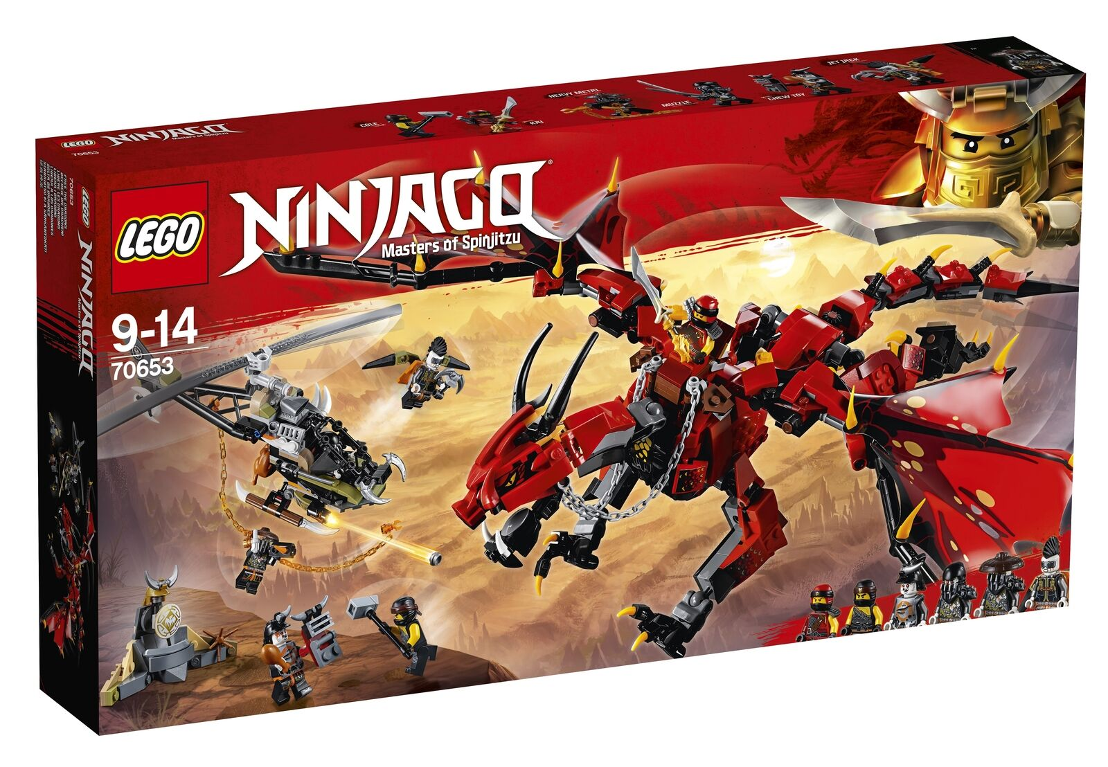 70653 LEGO Ninjago Firstbourne - Brand New and Sealed