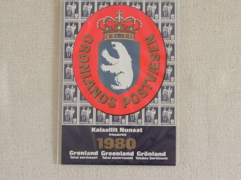Grønland, postfrisk, Årsmappe 1980