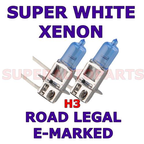 FITS SUZUKI SWIFT 2005-2006 SET  H3  XENON SUPER WHITE  LIGHT BULBS