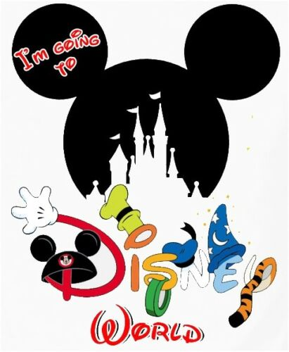 I/'M GOING TO***DISNEY MICKEY MOUSE FAMILY VACATION T-SHIRT IRON ON TRANSFER*****