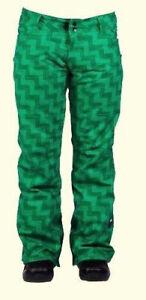 RIDE-Women-039-s-EASTLAKE-Snow-Pants-EmeraldGreenWeave-Size-Medium-NWT