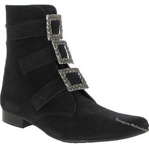 Boots-amp-Braces-Garibaldi-Winkelpiker-3-Schnallen-Schwarz-Stiefel-And-Pikes-Leder