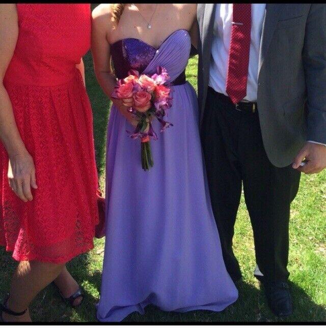 Christina Wu Bridesmaid Prom Homecoming Dress Sequin Purple