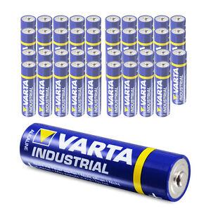 40 x Varta AAA Industrial Micro LR03 Batterie