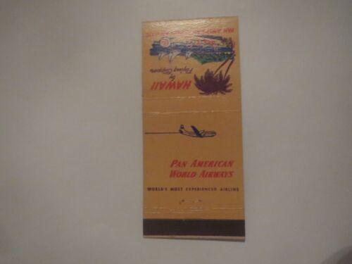PAN AMERICAN WORLD AIRWAYS HAWAII SLEEPERETTE VINTAGE PROMO MATCHBOOK COVER
