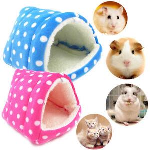 Hamaca-Hamster-Conejo-Cobaya-Bolsa-De-Dormir-Cueva-cama-calida-casa-de-Mascotas-pequenas