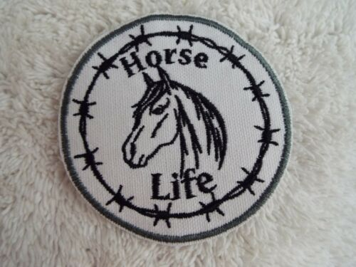 """E21 Barbed Wire Horse Life 3/"""" Embroidery Iron-on Custom Patch"""