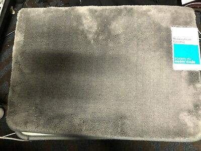 "Room Essentials Loop Memory Foam Accent Bath Rug 17/"" X 24/"" Gray Mist"