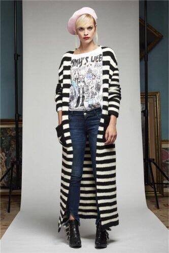 DENNY Rosa MAGLIA t-shirt 721dd60015 tg. L Weiß