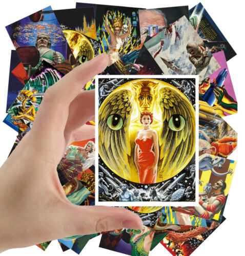 "Vintage SciFi Surrealism Vigril Finlay 1187 24stkrs 2.5/""x3.5/""ea Stickers pack"