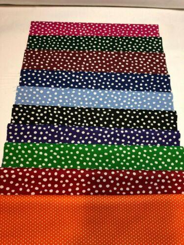 "20 10 /"" Pre Cut Squares Layer Cake Quilt Quilting 100/% Cotton Dizzy Dots"