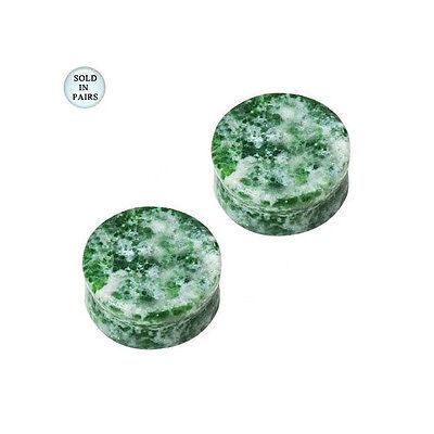 BodyJewelryOnline Solid ite Semi Precious Stone Saddle Ear Plug 0 Gauge Sold in Pairs!