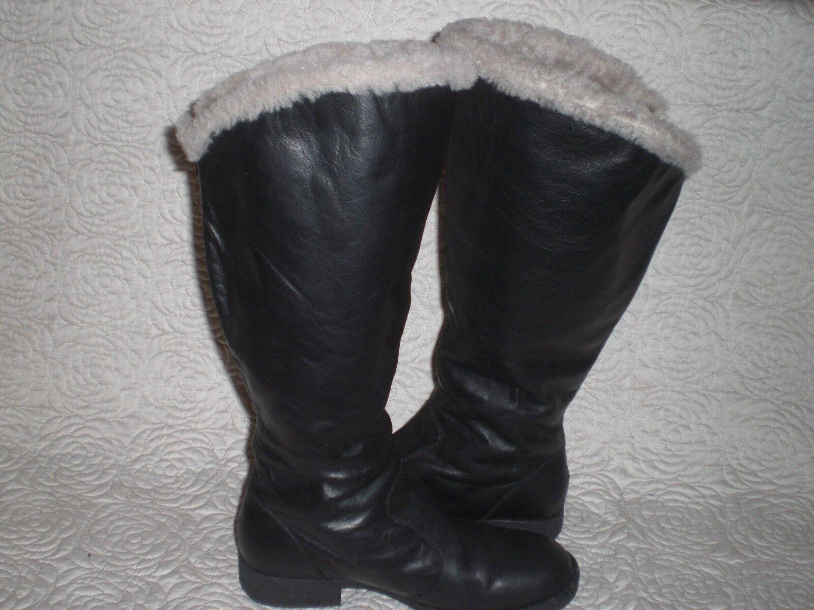 Born Tall  Leather 16  CALF botas Shearling  Lined Winter  botas Sz 9
