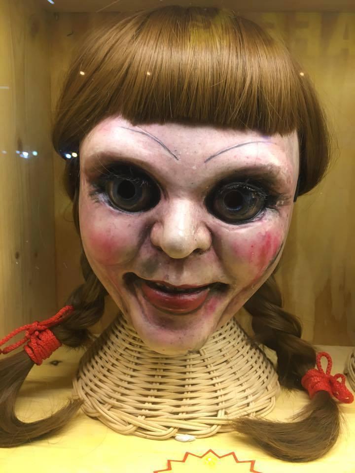 Annabelle CosJugar Paintball Airsoft Casco de Cochea Completa MásCochea de utilería de Halloween Personalizado