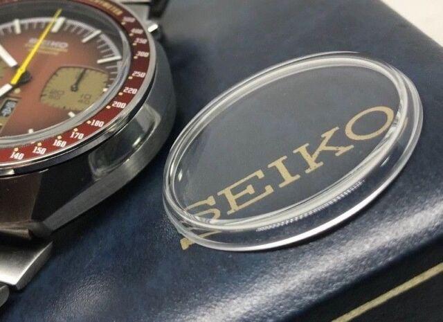 340W14GN00 HARDLEX MINERAL CRYSTAL FOR SEIKO BULLHEAD AND SPEEDTIMER 6138 /& 6139