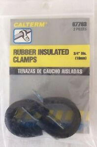 """36pc Rubber Insulated Clamps Assortment Set 1//4/"""" 5//16/"""" 3//8/"""" 1//2/"""" 5//8/"""" NEW"""