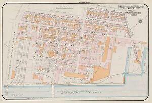 1913 COPY PLAT ATLAS MAP GOAD CANADA CHARLES E MONTREAL CITY OF VERDUN