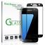 miniature 1 - amFilm Samsung Galaxy S7 Full Cover Tempered Glass Screen Protector (Black)