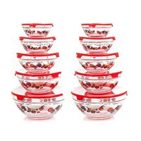 Chef Buddy 82-5758 20-piece Glass Bowl Set Clear