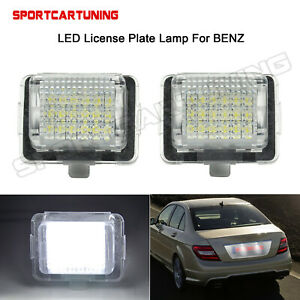 LED-License-Plate-Light-Lamp-Error-Free-For-Mercedes-Benz-W204-2D-W205-W216-W218