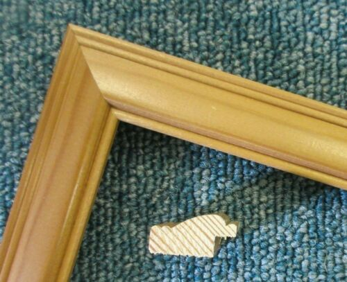 4 x 75cm lengths Small 23mm Antique Pine Wood Picture Frame Moulding 3m