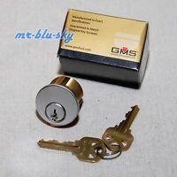 Locksmith - Gms 1 Mortise Lock Cylinder, Satin Chrome, Kw1 Keyway, 2 Keys