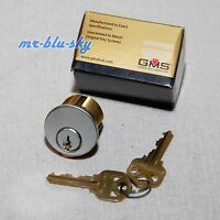 Locksmith - Gms 1 Mortise Lock Cylinder, Satin Chrome, Kw1 Keyway, 2 Keys