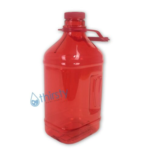 Red Half Gallon Water Bottle Handle Drinking Gym Canteen Jug Container 64 oz
