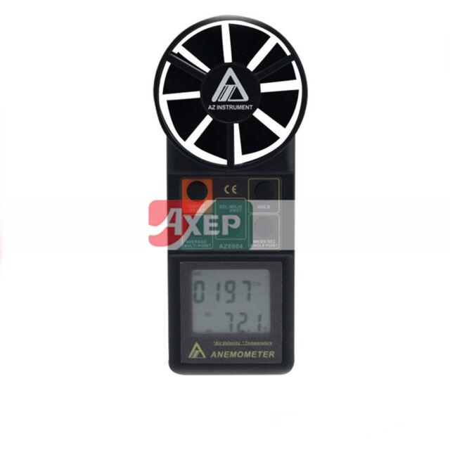 A● AZ-8904 Handheld Compact Anemometer Wind Speed Meter Air Flow Meter
