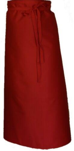 2 Stück Bistroschürze rot  100 x 100 cm Schürze