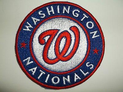 Baseball & Softball Weitere Ballsportarten Washington Nationals Bestickt Patch ~8.9cm Rundes~ Iron Sew ~ Mlb ~ Gratis Us