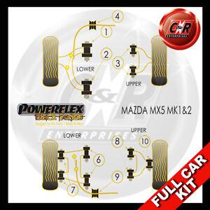 Mazda-Mx-5-Mk2-98-05-Powerflex-Negro-Completo-Bush-Kit