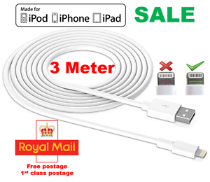 Extra-Long-3M-USB-LEAD-SYNC-DATA-CABLE-CHARGER-FOR-iPhone-6-PLUS-5-5S-iPad-UK