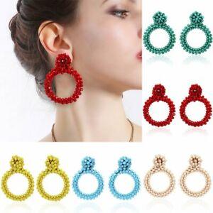 Fashion-Handmade-Crystal-Beaded-Earrings-Women-Ring-Drop-Dangle-Ear-Stud-Jewelry