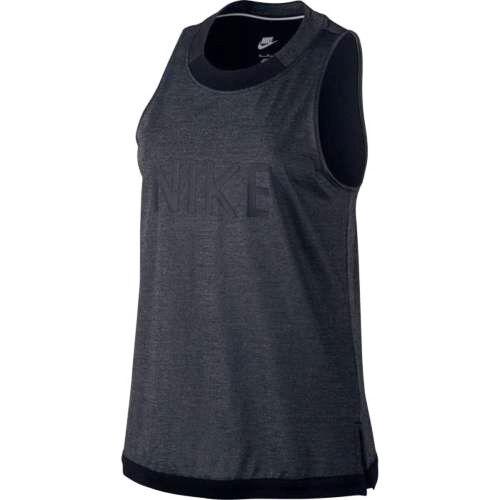 Nike gris tirantes negro para de Sparkle Camiseta talla de 804084 823233468054 mujer Sportswear Xs qpxUC