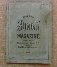 Frank Leslie´s/ Sunday Magazine/ Charles Force Deems/ 1878/ February/Vol. 3/No.2