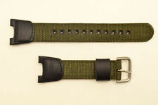 Casio 10304188 Twin Sensor SGW-100B watch band strap green nylon black leather