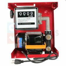 155w Electric Gas Transfer Pump Oil Fuel Diesel Withmeter Gallon Diesel Automatic