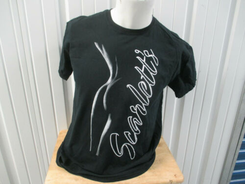 VINTAGE GILDAN SCARLETT'S MIAMI STRIP CLUB BLACK L