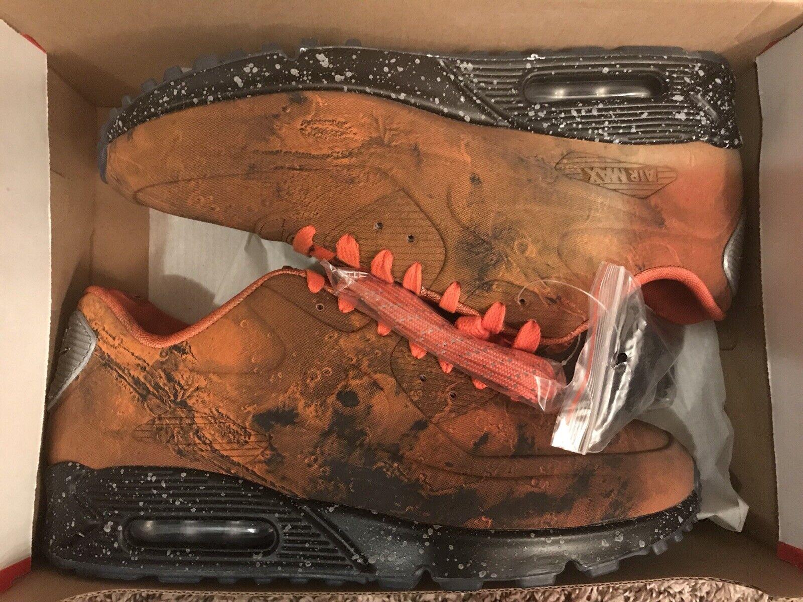 39fe7086 NIKE AIR 90 QS MARS LANDING MARS Stone Magma orange SIZE 10 US MAX  neihtb7185-Athletic Shoes