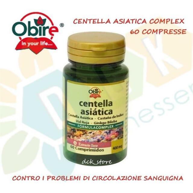 CENTELLA ASIATICA COMPLEX 60 COMPRESSE CIRCOLAZIONE VENE CAPILLARI CELLULITE