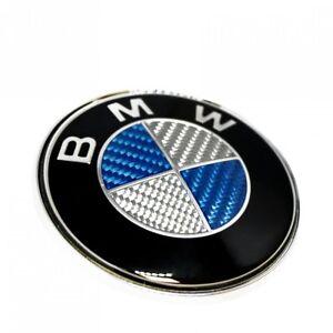 For BMW Bonnet Badge Emblem 82MM E30 E36 E46 E61 E81 E82 E90 E92 BLUE