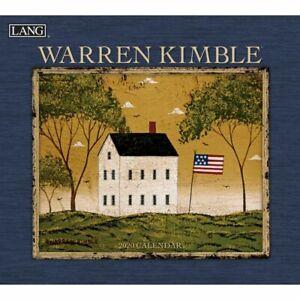 Lang-Companies-2020-Calendars-Warren-Kimble-Wall-Calendar-Linen-Embossed