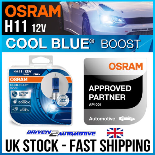 2x OSRAM H11 COOL BLUE BOOST BULBS FOR DUCATI SUPERBIKE 899 Panigale 01.12