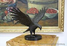Bronze Skulptur Figur Adler Eagle 3kg Bronzeskulptur Marmor 39cm Bronzefigur