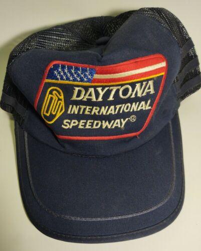 Vintage 3 Stripe Trucker Snapback Hat Racing Dayto